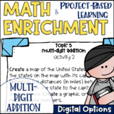 Math Project-based Learning & Enrichment for Multi-Digit Addition