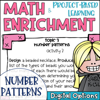 Math Project-based Learning & Enrichment for Number Patterns