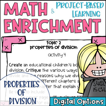 Math Project-based Learning & Enrichment for Properties of Division