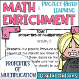 Math Project-based Learning & Enrichment for Properties of Multiplication