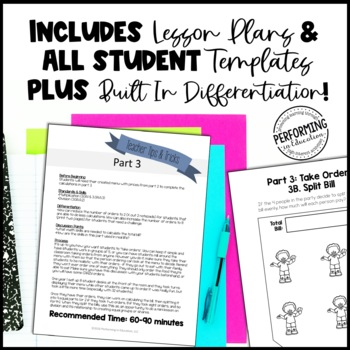 Math Project-based Learning for 3rd Grade Bundle: 6 Awesome Projects!