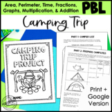 Math Project-based Learning for 3rd Grade: Camping Trip!