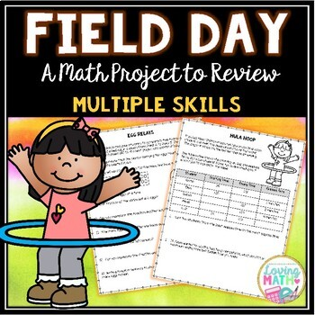 End of Year Math Project | Multiple Math Skills