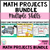 Math Projects BUNDLE - Project Based Learning (PBL) DISTANCE LEARNING