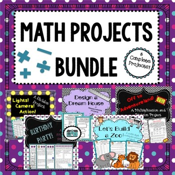 Math Projects Bundle: Fractions, Multiplication, Measurement, and More!