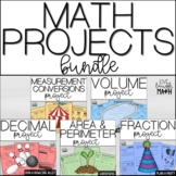 Math Projects Bundle: Grades 4-6