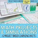 2nd & 3rd Grade Math Project Based Learning (PBL) BUNDLE | Print & Digital