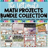Math Projects BUNDLE   Distance Learning   Google Classroom