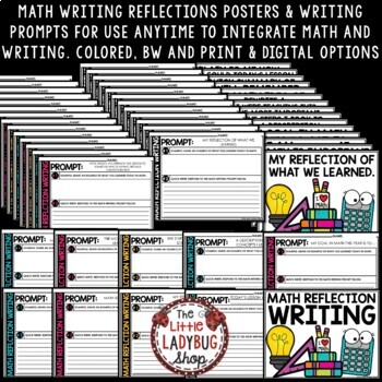 Math Reflection Writing Prompts & Posters