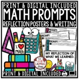 Math Journal Prompts- 3rd Grade, 4th Grade Math Writing Prompts & Posters