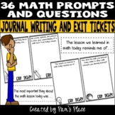 Math Journal Writing and Exit Tickets