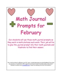 Math Prompts for February - Free