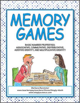 Math Properties Memory Games
