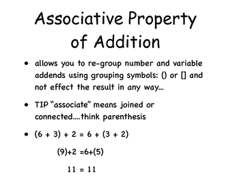 Math Properties PDF
