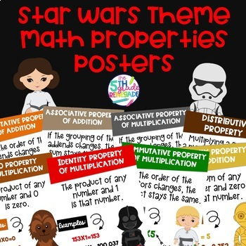 Math Properties Anchor Chart Color Posters with a Star WarsTheme