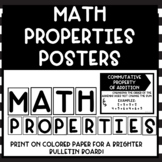Math Properties Bulletin Board Posters