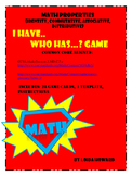 Math Properties Game, I Have...Who Has...?