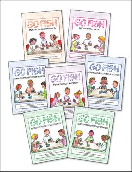 Math Properties Go Fish Games  ♥ BUNDLE ♥