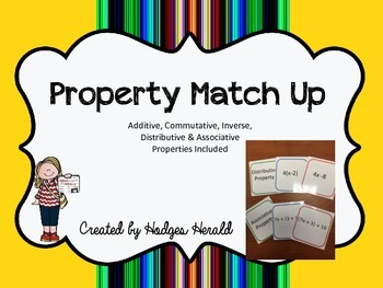 Math Properties Match Up