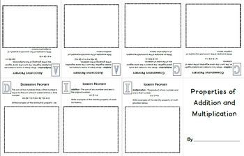 Math Properties Mini-Book