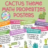 Math Properties Posters with a Cactus Succulent Theme