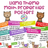 Math Properties Posters with a Llama Alpaca Theme