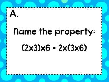 Math Properties Scavenger Hunt CCSS Aligned