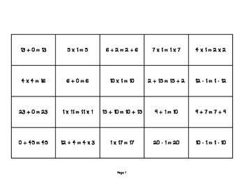 Math Properties Sort