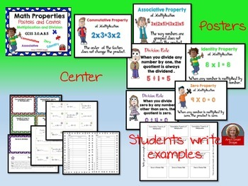 Multiplication and Division Properties Posters and Center