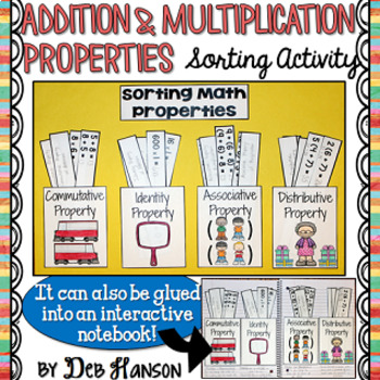 Math Properties Sorting Activity