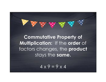 Math Properties and Number Form Anchor Charts