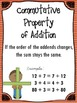 Math Properties of Addition & Multiplication Freebie Posters