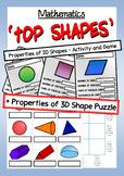Math: Properties of Shape - 2 Pack - 2D Shape Game + 3D Shape Puzzle