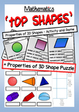 Math: Properties of Shape - 2 Pack - 2D Shape Game + 3D Sh