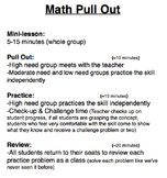 Math Pull Out
