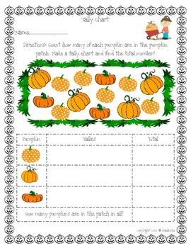 Math Pumpkin Themed Learning Bundle