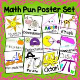 Math Pun Poster Set - Classroom Decor