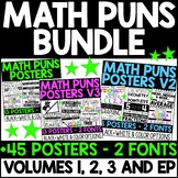 Math Puns Posters BUNDLE