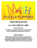 Math Puzzle Flipperz - Multiplication 2,3,4 digit by 1 digit