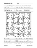 Math Puzzle Fun: Order Ops, Equations