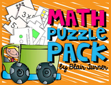 Math Puzzle Pack - Place Value, Addition, Multiplication, and Fractions!