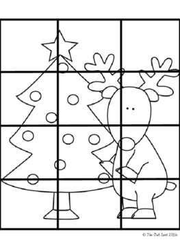 Math Puzzle Races - Operations Practice Holiday/Winter Theme