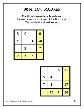 Math Puzzle Sampler