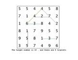 Math Puzzle - Triplets