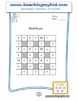 Maths addition puzzles