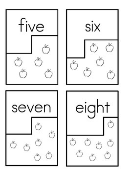 Math Puzzle-matching numeral to picture