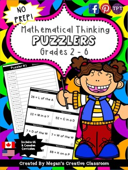 Math Center: Puzzlers for Mathematical Thinking