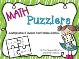 Multiplication and Divison Fact Families