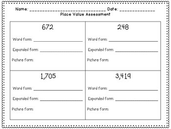 Place Value Hundreds & Thousands