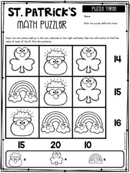 Math Puzzlers: St. Patrick's Day Edition